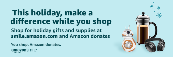 Shop Amazon Smile for the holidays and Support NCMC!